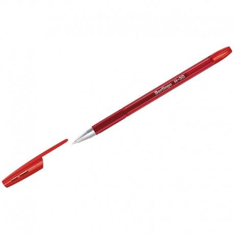 """Ручка шариковая BERLINGO """"H-30"""" 0,7мм., красная (KS2917)"""