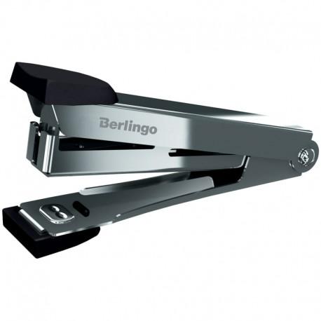 Степлер №10 BERLINGO на 10л. хром. мет. корпус, черный (DSn 10031)