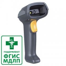 Сканер ШК (ручной, 2D имидж, серый) MD6100+ USB