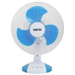 Вентилятор настольный Centek CT-5007 White/blue диам. лоп. 34см., 45Вт, 3 скорости