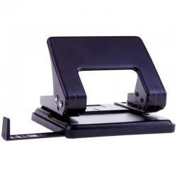 Дырокол OfficeSpace на 20 л, металлический, черный, с линейкой P204 1865BK