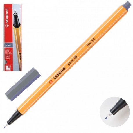 Ручка капиллярная STABILO темно серый 88/96 0,4мм