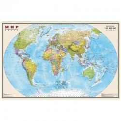 """Карта """"Мир"""" политическая DMB, 1:25млн., 1220*790мм, матовая ламинация  ОСН1223987"""