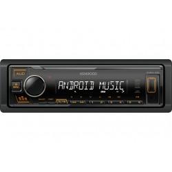 Автомагнитола Kenwood KMM-105AY 1DIN, 4x50Вт, MP3, FM, USB, AUX, съемная панель