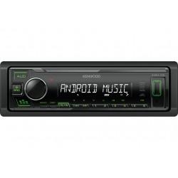 Автомагнитола Kenwood KMM-105GY 1DIN, 4x50Вт, MP3, FM, USB, AUX, съемная панель