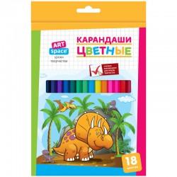 """Карандаши 18цв. СПЕЙС """"Динозаврики"""" 261415"""