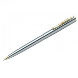 """Ручка шариковая BERLINGO """"Velvet Prestige""""  0,7мм., синяя, корпус хром/золото (CPs 72701)"""