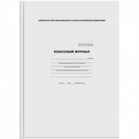 Классный журнал  5-9 класс Спейс (KZHV-IX 3697, 16741)