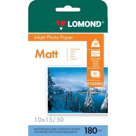 Бумага Lomond 180 г/м2, 10х15, матовая, 50л. (0102063)