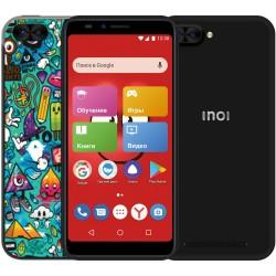 "Смартфон INOI kPhone 4G Black (5i) 2sim/5.5""/1440*720/4*1.2ГГц/1Gb/8Gb/mSD/8Мп/Bt/WiFi/GPS/And8.0/2850мАч"