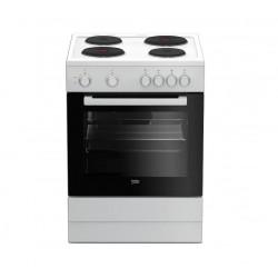 Плита электрическая Beko FFSS 66000 W White 4 конфорки, духовка 71л, 60x60x85, механ. управление