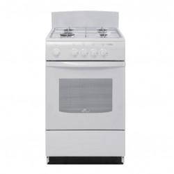Плита газовая De luxe 5040.38г(щ) White 4 конфорки газ, духовка 43л, 50x50x85, механ. управл.
