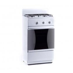 Плита Газовая Flama CG 3202 W White 2 конфорки газ, духовка 30л, 50x35x85, механ. управл.