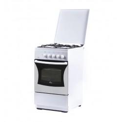 Плита Газовая Flama FG 24023 W White 4 конфорки газ, духовка 50л, 50x58x85, механ. управл.