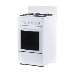 Плита Газовая Flama RG 24035 W White 4 конфорки газ, духовка 50л, 50x58x85, механ. управл.
