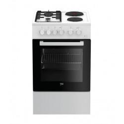 Плита комбин. Beko FFSS 54000 W White 4 конфорки, газ/электрич., духовка 60л, 50x60x85, механ. управл.