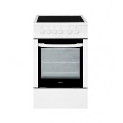 Плита стеклокерам. Beko FFSS 57000 W White 4 конфорки, духовка 60л, 50x60x85, механ. управление
