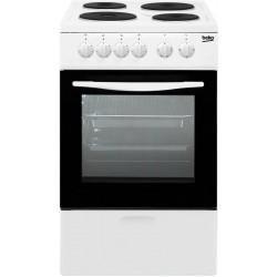 Плита электрическая Beko FCS 46000 White 4 конфорки, духовка 54л, 50x50x85, механ. управление