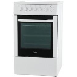 Плита стеклокерам. Beko FFSS 57101GW White 4 конфорки, духовка 60л, 50x60x85, механ. управление