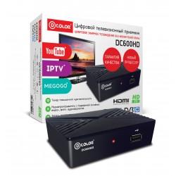 Цифровая приставка DVB-T2 D-Color DC600HD HDMI 1080p/RCA/TimeShift/ТВгид/запись