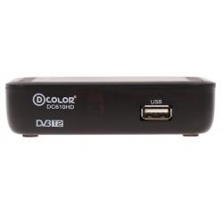 Цифровая приставка DVB-T2 D-Color DC610HD HDMI 1080p/RCA/TimeShift/ТВгид/запись