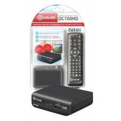 Цифровая приставка DVB-T2 D-Color DC700HD Plus HDMI 1080p/RCA/запись