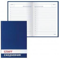 Ежедневник STAFF недат. А5, 128 л, твердая обл., синий, 127053