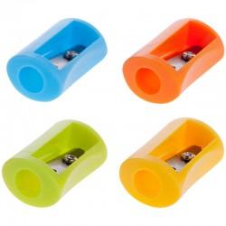Точилка Спейс 1 отверстие, пластиковая, ассорти (SHP6521 2001)
