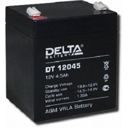 Аккумулятор Delta DT12045 (12V, 4.5Ah)