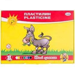 """Пластилин 08цв. ГАММА """"Юный художник"""" 112г. со стеком (280043)"""