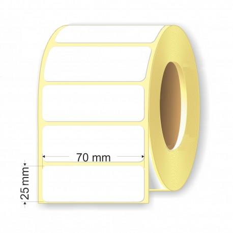 Этикетка для термопринтера 70*25мм. шп.76мм, 1000шт.