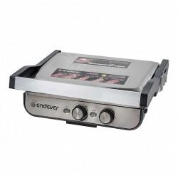 Гриль Endever Grillmaster 250 Silver/black 2300Вт, антипригарное покрытие