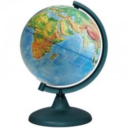 Глобус физический рельефный Глобусный мир, 21см, на круглой подставке 10146