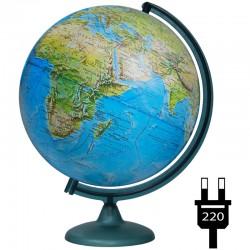 Глобус физико-политический Глобусный мир, 32см, с подсветкой 10095