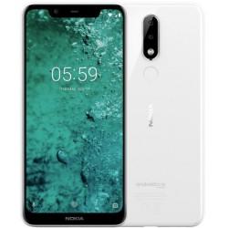 "Смартфон Nokia 5.1 Plus White 2sim/5.8""/1520*720/8*1.8ГГц/3Gb/32Gb/mSD/13Мп/Bt/WiFi/GPS/And8.0/3060мAh"