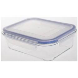 Контейнер Bekker BK-8804 640мл,прямоуг.,крышка герметичная с силикон. уплотнителем,подходит для микров. печи, духовки,жаропрочное стекло.