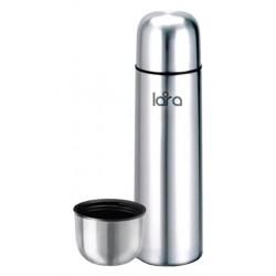 Термос LARA LR04-12 - (сталь) - 1200 мл, КЛАПАН, двойные стенки, крышка-чашка