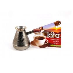 Турка медная LARA LR15-01 300мл <Виноград> деревянная, лакированная ручка с латунным кольцом