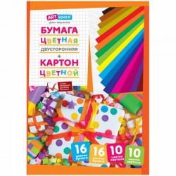 Картон цветной А4 Спейс 10л. и двусторон. цв. бумага 16л., (Нкб10-16 4455)