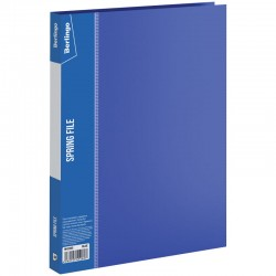 """Папка с пружинным скоросшивателем BERLINGO """"Standard"""" 17мм. с карманом, синяя (MH2335)"""