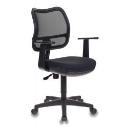 Кресло офисное БЮРОКРАТ CH-797AXSN/26-28 (664024) ткань, спинка сетка, регулировка высоты, Black