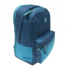Рюкзак GRIZZLY 28*41*20см, 2 отделения, 2 кармана, уплотненная спинка, джинсовый RD-952-1/2
