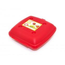 Ланч-бокс Oursson LB1400/RD (Красный),высококачественный пластик,можно греть в микроволновой печи и мыть в посудомоечной машине.