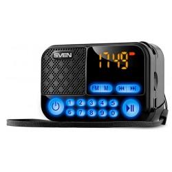 Радиоприемник SVEN PS-25 черный /FM, USB, SD, встроенный аккумулятор