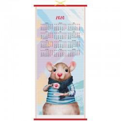 """Календарь настен. 2020г. СПЕЙС циновка """"Символ года"""" 279693"""