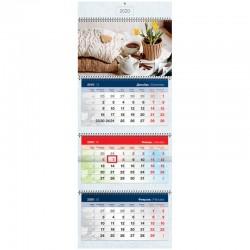"Календарь кварт. 2020г. СПЕЙС ""Уют"" 3 бл. на 4 гр. (280420)"