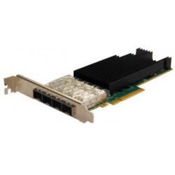 Silicom PE325G4I71L-XR Quad Port SFP28 25 Gigabit Ethernet PCI Express Server Adapter X8 Gen3 , Low Profile, Based on Intel XXV710-AM2, Support Direct Attached Copper cable