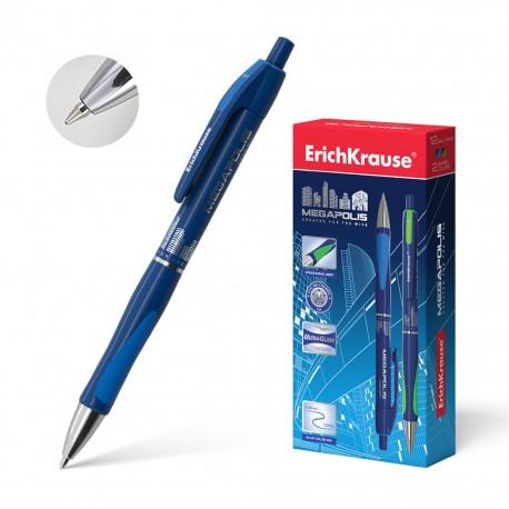 """Ручка шариковая Erich Krause """"Megapolis Concept"""" 0,7мм., автоматическая, синяя (31)"""