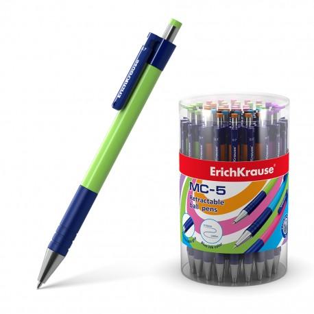 """Ручка шариковая Erich Krause """"MC-5"""" 0,7мм., автоматическая, синяя (31067)"""