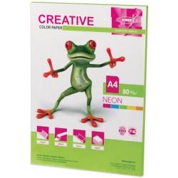 Бумага цветная А4 50л. CREATIVE Неон салатовая (БН-50с)